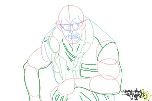 How to Draw Dutch from Black Lagoon - Step 9