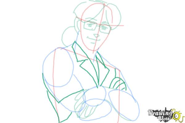 How to Draw Benny from Black Lagoon - Step 7