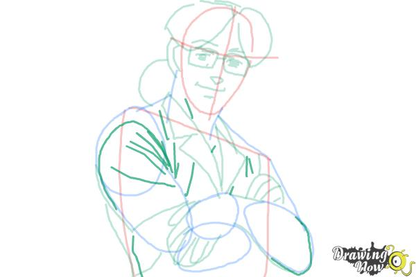 How to Draw Benny from Black Lagoon - Step 8