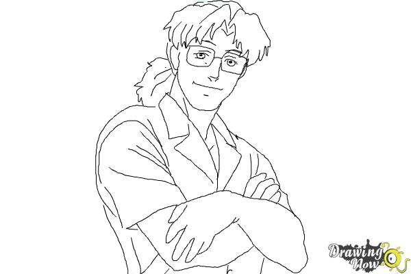 How to Draw Benny from Black Lagoon - Step 9