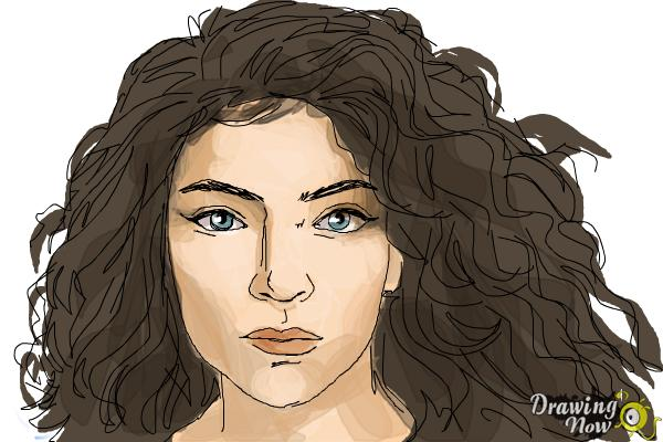 How to Draw Lorde - Step 10