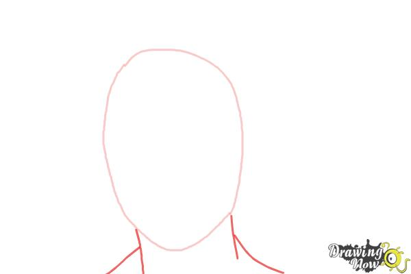 How to Draw Lorde - Step 2