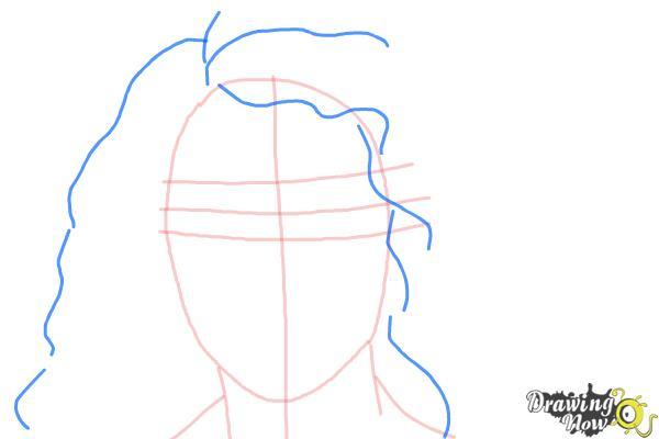 How to Draw Lorde - Step 4