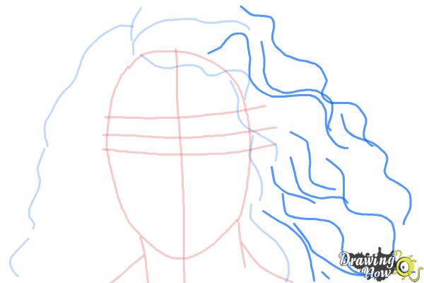How to Draw Lorde - Step 5