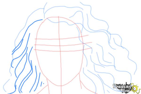 How to Draw Lorde - Step 6