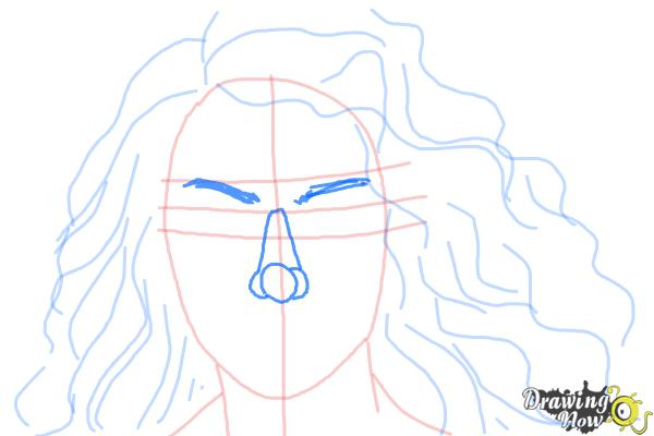 How to Draw Lorde - Step 7