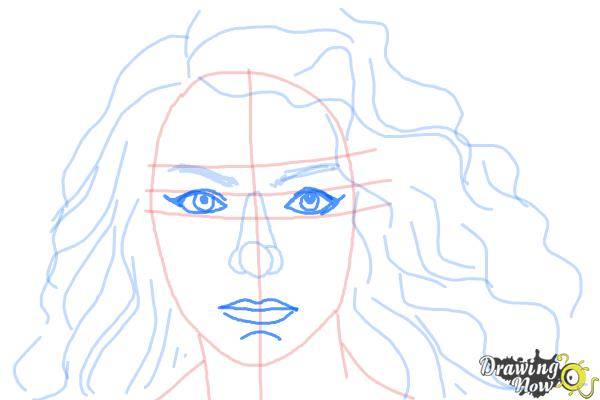 How to Draw Lorde - Step 8
