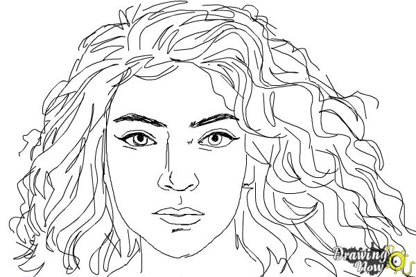How to Draw Lorde - Step 9