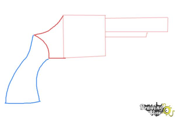How to Draw a Simple Gun - Step 3