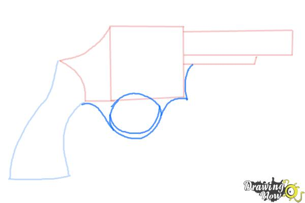How to Draw a Simple Gun - Step 4