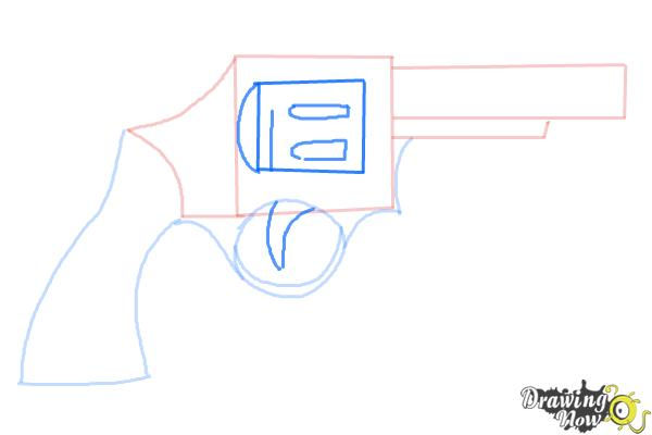 How to Draw a Simple Gun - Step 5
