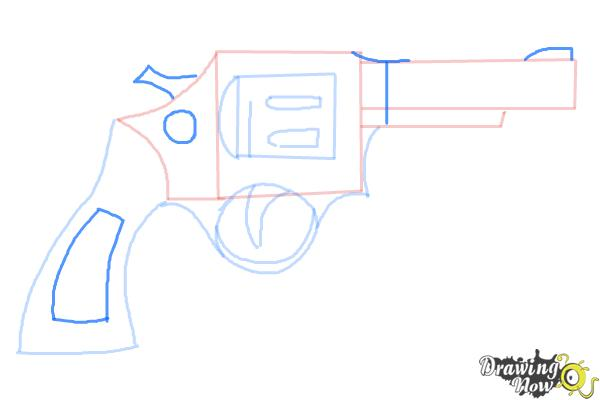 How to Draw a Simple Gun - Step 6