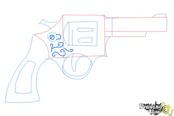 How to Draw a Simple Gun - Step 7