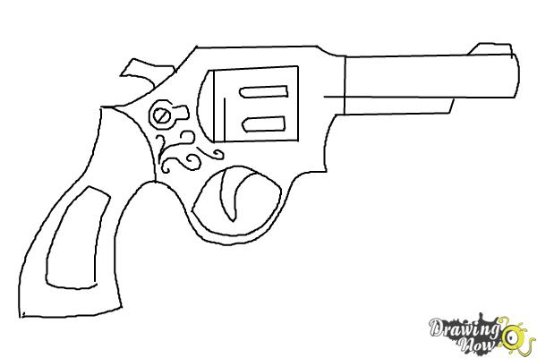 How to Draw a Simple Gun - Step 8