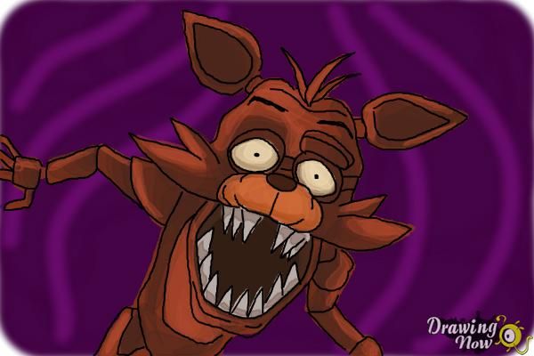 How To Draw Foxy From Five Nights At Freddy S Drawingnow