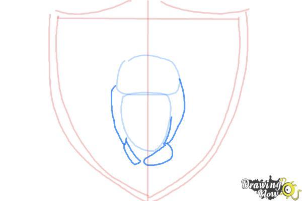 How to Draw The Oakland Raiders, Nfl Team Logo - Step 4