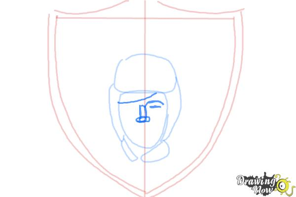 How to Draw The Oakland Raiders, Nfl Team Logo - Step 5