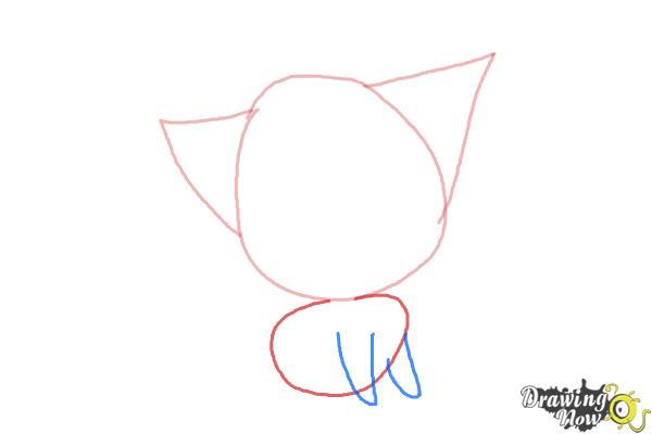 How to Draw a Chibi Kitten - Step 3