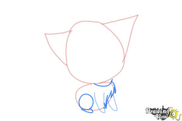 How to Draw a Chibi Kitten - Step 4