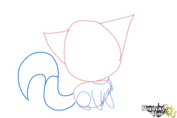 How to Draw a Chibi Kitten - Step 5