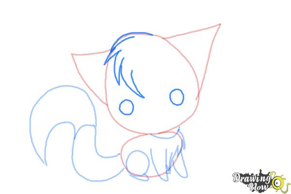 How to Draw a Chibi Kitten - Step 6