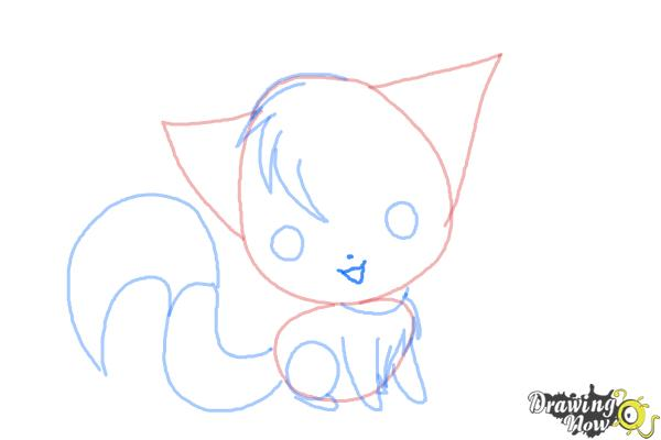 How to Draw a Chibi Kitten - Step 7