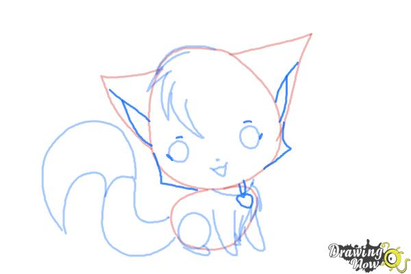 How to Draw a Chibi Kitten - Step 8