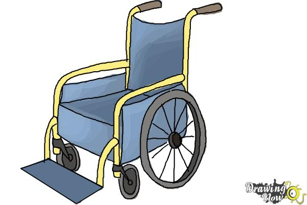 How to Draw a Wheelchair - Step 10