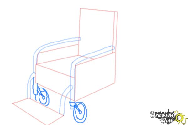 How to Draw a Wheelchair - Step 6