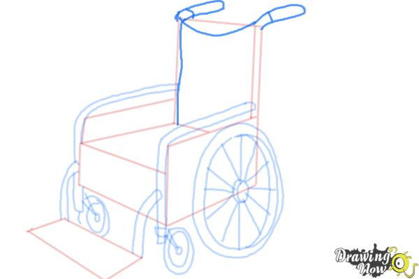 How to Draw a Wheelchair - Step 8