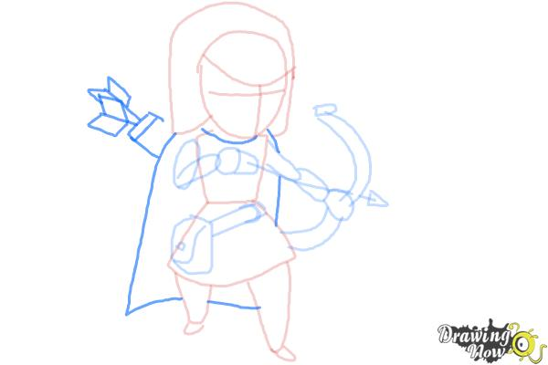 How to Draw Clash Of Clans Archer - Step 7