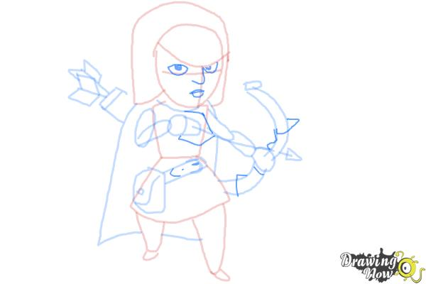 How to Draw Clash Of Clans Archer - Step 8
