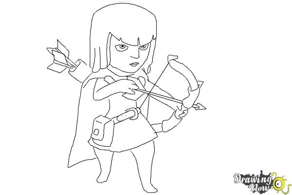 How to Draw Clash Of Clans Archer - Step 9