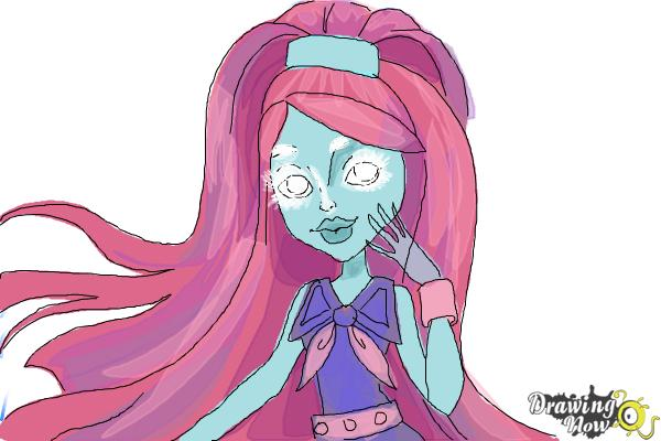 How to Draw Kiyomi Haunterly from Monster High - Step 10