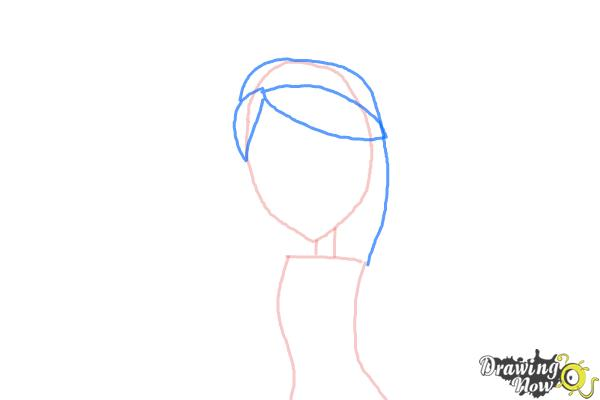 How to Draw Kiyomi Haunterly from Monster High - Step 3