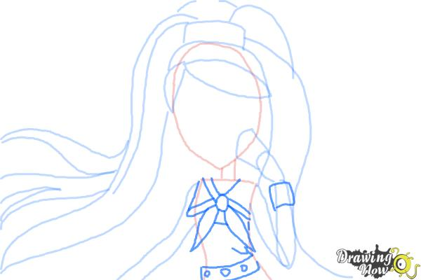 How to Draw Kiyomi Haunterly from Monster High - Step 6