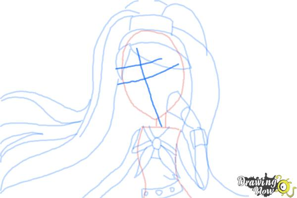 How to Draw Kiyomi Haunterly from Monster High - Step 7