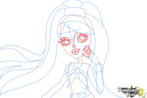 How to Draw Kiyomi Haunterly from Monster High - Step 8