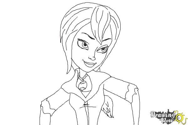 How to Draw Sabrina from Sabrina Secrets Of a Teenage Witch - Step 10