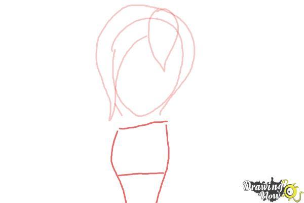 How to Draw Sabrina from Sabrina Secrets Of a Teenage Witch - Step 3