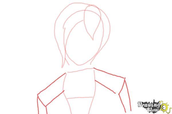 How to Draw Sabrina from Sabrina Secrets Of a Teenage Witch - Step 4