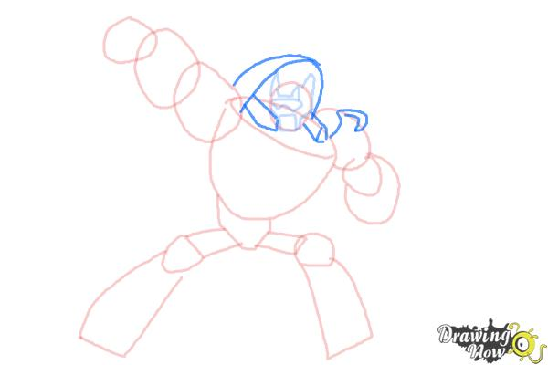 How to Draw Blades from Transformers Rescue Bots - Step 6
