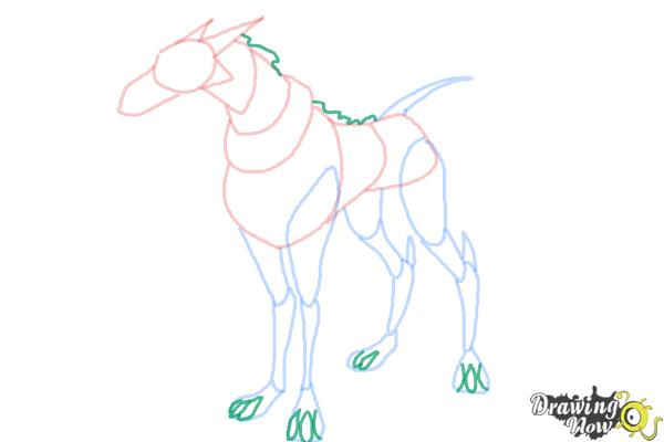 How to Draw Khyber'S Dog from Ben 10 Omniverse - Step 7