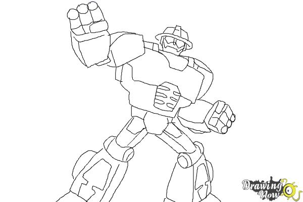 How to draw heatwave from transformers rescue bots for Rescue bots heatwave coloring page