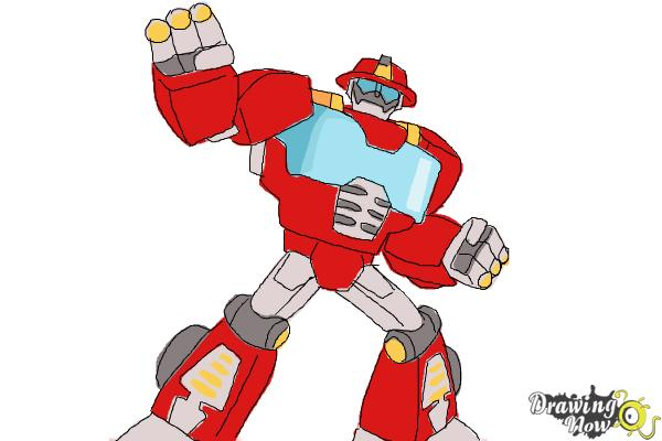 How to Draw Heatwave from Transformers Rescue Bots - Step 11