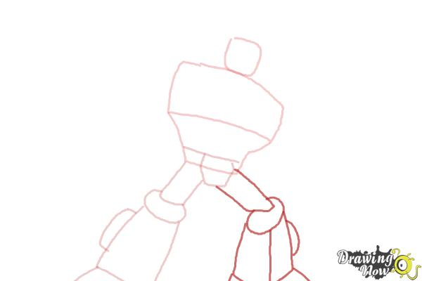 How to Draw Heatwave from Transformers Rescue Bots - Step 4
