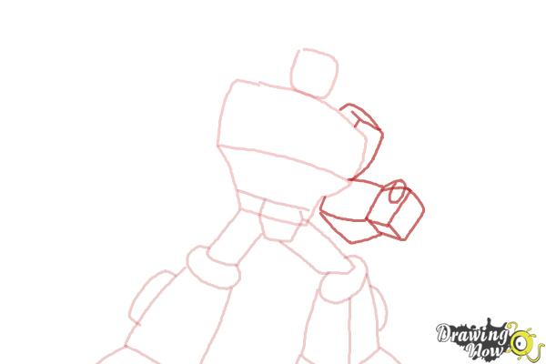 How to Draw Heatwave from Transformers Rescue Bots - Step 5