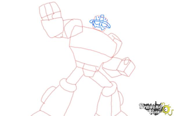 How to Draw Heatwave from Transformers Rescue Bots - Step 7
