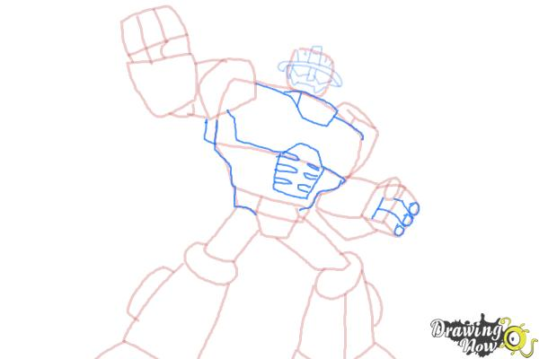 How to Draw Heatwave from Transformers Rescue Bots - Step 8