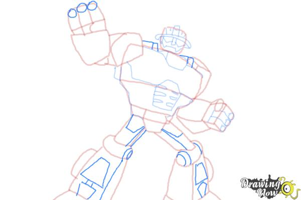 How to Draw Heatwave from Transformers Rescue Bots - Step 9